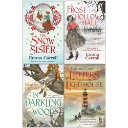 Emma Carroll 4 Books Collection Set Frost Hollow Hall, In Darkling Wood, Letters from the Lighthouse and The Snow Sister Photo