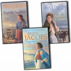 Anna Jacobs Michaels Family 3 Books Collection Pack Set - Threepenny Dreams, A Pennyworth Of Sunshine, Twopenny Rainbows Photo