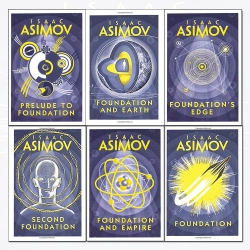 Isaac Asimov Foundation Series 6 Books Collection Set Science Fiction Books Photo