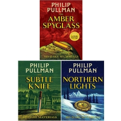 Philip Pullman His dark materials Trilogy 3 books Set Pack-Northern Lights, The Subtle Knife, The Amber Spy Glass Photo