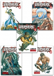 Berserk Volume 1-5 Collection 5 Books Set (Series 1) by Kentaro Miura Photo