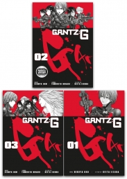Gantz G Series 3 Books Collection Set by Hiroya Oku Volume 1-3 by Hiroya Oku