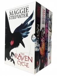 The Raven Cycle Series 4 Books Collection Box Set by Maggie Stiefvater The Raven King, Blue Lily Lily Blue, The Dream Thieves, The Raven Boys Photo