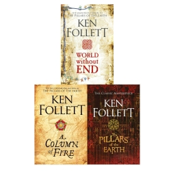Ken Follett The Kingsbridge Novels Stories Collection 3 Books Set Photo