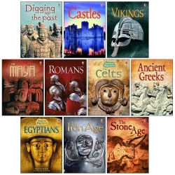 Usborne Beginners History 10 Books Set - Castles, Vikings, Romans, The Celts, Anicent Greeks, Egyptians and MORE Photo