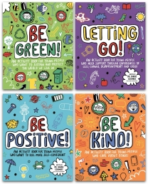 Mindful Kids 4 Books Collection Set Series 2 - Be Kind, Be Green, Be Positive, Letting Go Photo