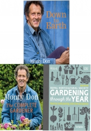 Down to Earth [Hardcover], The Complete Gardener (Paperback), RHS Gardening Through the Year [Hardcover] 3 Books Collection Set Photo