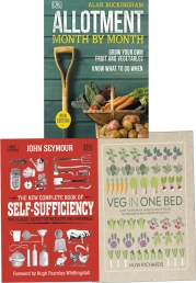 Garderning 3 Books Collection Set -Veg in One Bed, Allotment Month By Month, The New Complete Book of Self-Sufficiency Photo