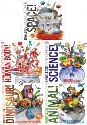 Knowledge Encyclopedia 5 Books Collection Set (Knowledge Encyclopedia Animal, Space Dinosaurs, Human Body, Science) Photo