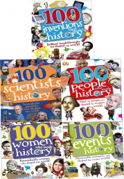 100 History Series 5 Books Collection Set (100 People Who Made History, 100 Events, 100 Inventions, 100 Scientists, 100 Women) Photo