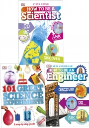 Dk Children Science 3 Books Collection Set (How to Be a Scientist, How to Be an Engineer, 101 Great Science Experiments) Photo