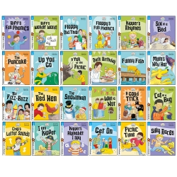 Biff, Chip and Kipper Stage 1 Read with Oxford for Age 3+ Childrens Early Learning - 24 Books Collection Set by Annemarie Young, Roderick Hunt, Cynthia Rider, Kate Ruttle, Nick Schon, Alex Brychta (Illustrator)