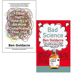 Ben Goldacre Collection 2 Books Set - I Think You will Find Its a Bit More Complicated Than That, Bad Science Photo