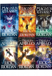 Trials of Apollo and Magnus Chase Series 6 Books Collection Set By Rick Riordan Photo