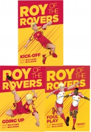 Roy of the Rovers Graphic Novel 3 Books Collection Set (Kick-Off, Foul Play, Going Up) Photo