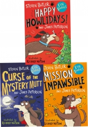 Dog Diaries 3 Books Collection Set Curse of the Mystery Mutt, Happy Howlidays, Mission Impawsible Photo