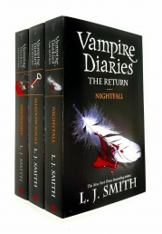 Vampire Diaries The Return 3 Books Set By L J Smith - Book 5 to 7 - Nightfall, Shadow Souls, Midnight Photo
