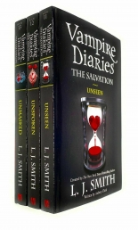 Vampire Diaries The Salvation Series Collection 3 Books Set By L J Smith - Book 11 to 13 - Unseen , Unspoken, Unmasked Photo