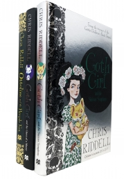 Goth Girl Series 3 Books Collection by Chris Riddell Children Hardcover Gift Set Photo