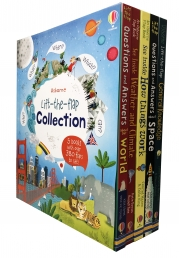 Usborne Lift The Flap Collection 5 Books Collection Set with over 380 flaps to lift Photo