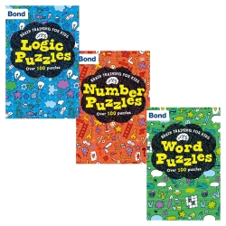 Bond Brain Training for Kids Oxford 3 Books Collection Set - Number Puzzles, Logic Puzzles, Word Puzzles by Michellejoy Hughes, Catherine Veitch