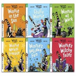 Read With Oxford Winnie and Wilbur 6 Books Collection Set Level Stage 4 for Age 5 to 6 Photo