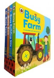 Ladybird lift the flap Book Busy Series 4 Books Collection Set Photo