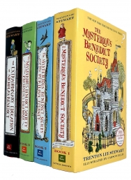 The Mysterious Benedict Society Series 4 Books Collection Set By Trenton Lee Stewart Photo