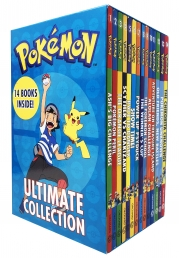 The Official Pokemon Ultimate Collection 14 Books Set - Ash Big Challenge, Pokemon Peril, Orange League, Scyther vs Charizard, Race to Danger & More