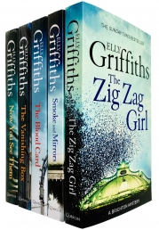 Brighton Mysteries Series Books 1-5 Collection Set by Elly Griffiths - Zig Zag Girl, Smoke and Mirrors, Blood Card, Vanishing Box & Now You See Them by Elly Griffiths