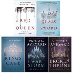 Victoria Aveyard Red Queen Series 5 Books Collection Set Photo