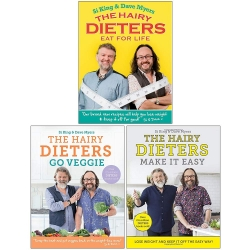 Hairy Dieters Collection 3 Books Set By Hairy Bikers (Eat for Life, Go Veggie, Make It Easy) Photo