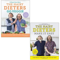 Hairy Bikers 2 Books Collection Set (The Hairy Dieters Go Veggie, The Hairy Dieters Make It Easy) Photo