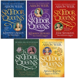 Alison Weir Six Tudor Queens Collection 5 Books Set Photo