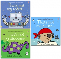 Thats Not My Pirate, Dinosaur, Robot 3 Books Collection Usborne Touchy Feely Books Photo