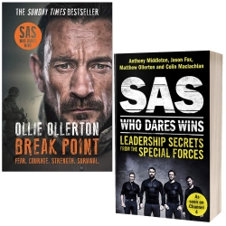 Break Point By Ollie Ollerton & SAS Who Dares Wins By Anthony Middleton 2 Books Collection Set Photo