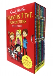 Enid Blyton The Famous Five Adventures Collection 9 Books Box Set with Full Colour Illustrations Photo