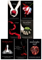 Twilight Saga Black Cover Stephenie Meyer 7 Books Collection Set - Life and Death, Midnight Sun, Breaking Dawn, Eclipse and More by Stephenie Meyer