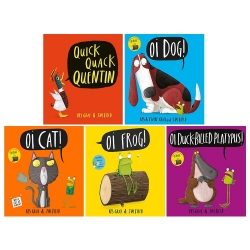 Kes Gray Collection 5 Books Set (Oi Frog, Oi Dog, Quick Quack Quentin, Oi Cat, Oi Duck-billed Platypus) Photo