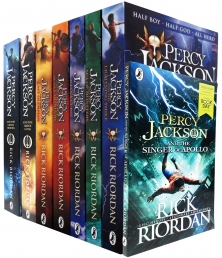 Percy Jackson Collection 8 Books Set By Rick Riordan Greek Gods, Greek Heroes by Rick Riordan