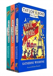 Taylor & Rose Secret Agents Series 3 Books Collection Set by Katherine Woodfine (Villains in Venice, Peril in Paris, Spies in St. Petersburg) by Katherine Woodfine