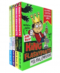 King Flashypants Collection 4 Books Set by Andy Riley Photo