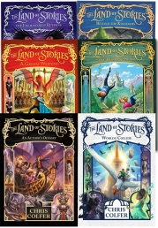 Land of Stories Chirs Colfer Collection 6 Books Set Wishing Spell, Grim Warning, Enchantress Returns, An Authors Oddyssey, Worlds Collide Photo