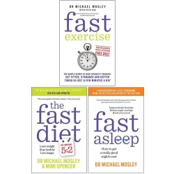 Michael Mosley 3 Books Collection Set (Fast Exercise, The Fast Diet, Fast Asleep) Photo