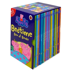 Peppa Pig Bedtime Box of Books 20 Stories Ladybird Collection Box Set, Peppa Goes Swimming... Photo