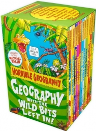 Horrible Geography Collection 12 Books Box Gift Set Horrible Histories Series Photo