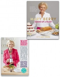 Cook Now, Eat Later and Cooks Up a Feast Collection 2 Books Set by Mary Berry Photo