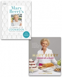 Mary Berry Cooks Up A Feast and Complete Cookbook Collection 2 Books Set Photo