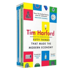 Tim Harford Collection 2 Books Set - Fifty Things That Made the Modern Economy, The Undercover Economist Photo