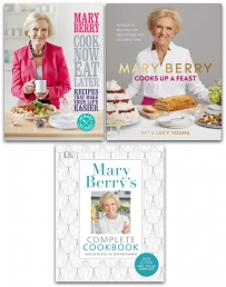 Mary Berry Collection 3 Books Set Cook Now Eat Later, Cooks Up a Feast, Complete Cookbook Photo